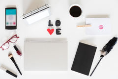 Love my own workspace! Stock Photos