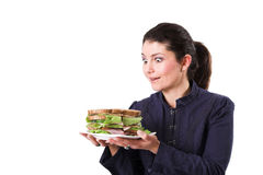 Love my sandwich Stock Photography