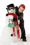Love My Snowman! Royalty Free Stock Photos