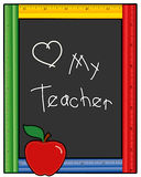 Love My Teacher Blackboard Royalty Free Stock Photography