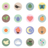 Love Nature Plant And Flower Icon Set - Vector Royalty Free Stock Image