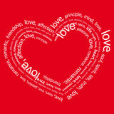 Love negativo (vector) Stock Photography