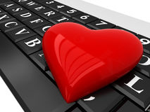 Love in the network Stock Images