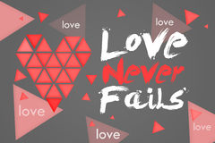 Love Never Fails Dark Background Stock Image