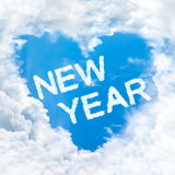 Love new year word on blue sky Royalty Free Stock Photos