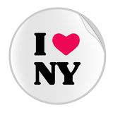 Love New York Sticker (STICKER SERIES). Vectorial illustration for simple sticker with I Love NY Royalty Free Stock Images