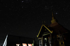 Love the night. A good view star from the sky in Thailand . It is so beautiful Stock Photos
