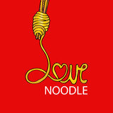 Love noodle Royalty Free Stock Photo