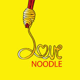 Love noodle Royalty Free Stock Images