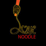 Love noodle Stock Photos