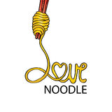 Love noodle Royalty Free Stock Photos
