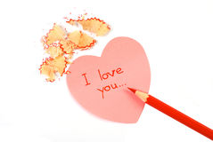 Love note Royalty Free Stock Photography