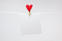 Love note Stock Photography