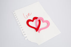 Love note Stock Photos