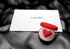 Love Note Background. Love Note with place for Your text Stock Photo