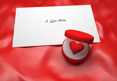 Love Note Background Stock Photo