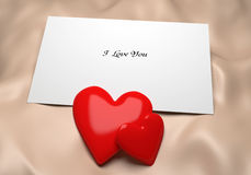Love Note Background Royalty Free Stock Images