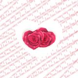 Love note card - text pattern with hearts. EPS 10 Royalty Free Stock Photography