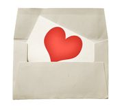 Love note and envelope Royalty Free Stock Photos