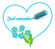 Love Note - 'Forget-me-not' Royalty Free Stock Photography