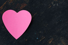 Love note in heart shaped Royalty Free Stock Image