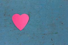Love note in heart shaped Royalty Free Stock Photos
