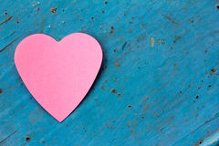 Love note in heart shaped Royalty Free Stock Images