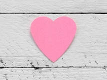 Love note in heart shaped Stock Photo