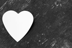 Love note in heart shaped Royalty Free Stock Photo