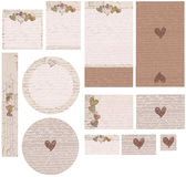 Love Note Hearts wedding invitation set Stock Photo