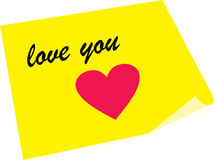 Love note with kiss Royalty Free Stock Photography