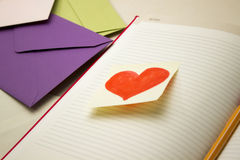 Love note and Love Letters Stock Photography