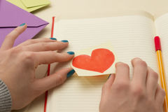 Love Note and Love Letters Royalty Free Stock Photos
