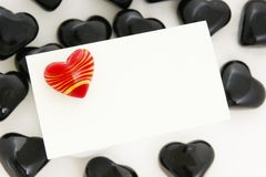 Love note paper Royalty Free Stock Photo
