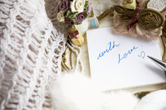 With love note romance Stock Photography