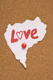 Love note sign Royalty Free Stock Images