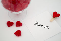 Love note Valentine`s day Royalty Free Stock Photography