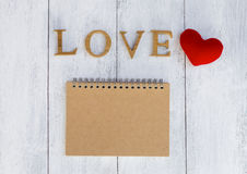 Love notebook Royalty Free Stock Photos