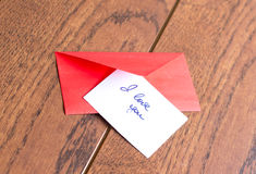 Love notes and envelope Royalty Free Stock Photos