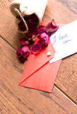 Love notes and envelope Royalty Free Stock Images