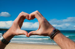 Love ocean Stock Photography