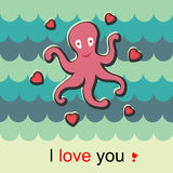Love octopus Royalty Free Stock Photos