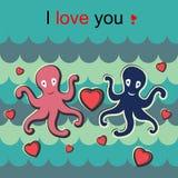 Love octopus Stock Photo