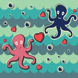 Love octopus Stock Photography