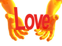 Love offer 3d arms Stock Photography
