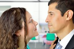 Love is in the office Royalty Free Stock Photos