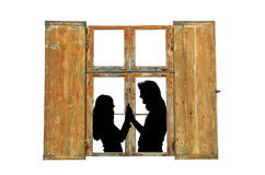 Love in old home. Royalty Free Stock Photography
