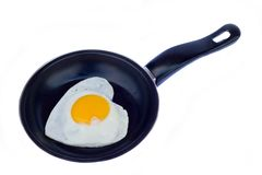 Love omelet Royalty Free Stock Images