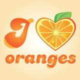 Love orange vector illustration Royalty Free Stock Image
