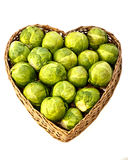Love organic sprouts. A closeup of organic sprouts in a heart shaped basket edable closeup background healthy leaf leaves nutrition vegetable  harvest Royalty Free Stock Photo
